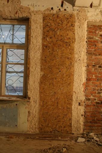Krustpils pils mākslīgais marmors. A-siena pēc attīrīšanas