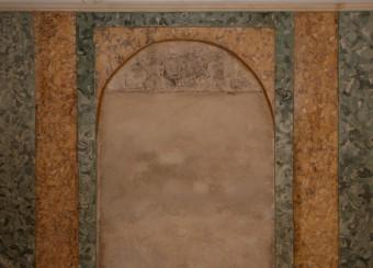 Krustpils pils mākslīgais marmors. D-siena pirms vaskošanas