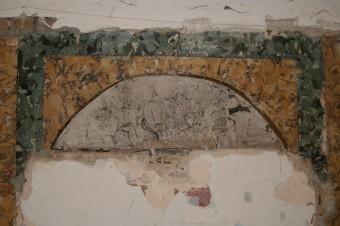 Krustpils pils mākslīgais marmors. Fragments