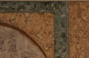 Krustpils pils mākslīgais marmors. Fragments pirms vaskošanas